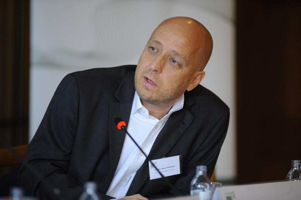 Zu Gast beim Kommunikationskongresses der Gesundheitswirtschaft in Hamburg 2012.