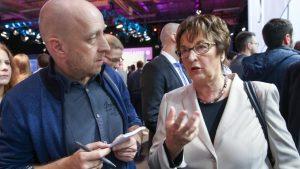 Jens Meyer-Wellmann 2017 mit Bundeswirtschaftsministerin Brigitte Zypries (SPD)