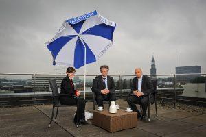 Jens Meyer-Wellmann beim Interview mit Johannes Caspar und Julia Witte